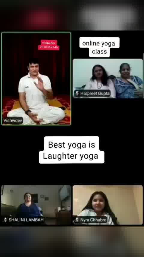 Best yoga is Laughter yoga .. online yoga classes by yogafriend vishwdev  www.yogalaughter.in 98103 62746 #healthylife